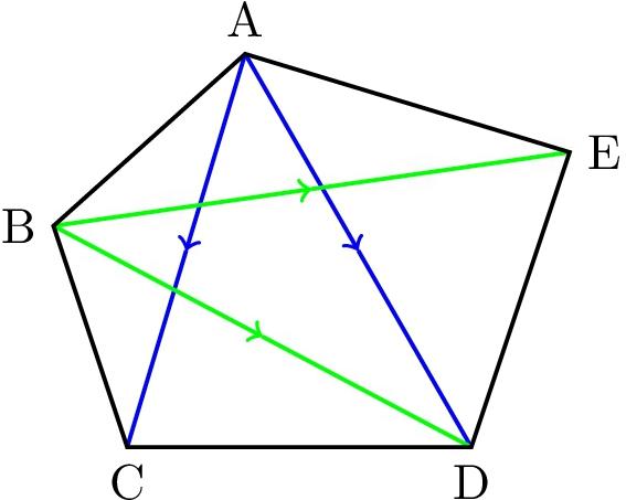 対角線 五角形